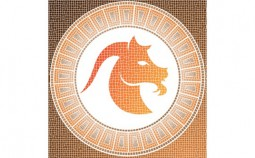 Element earth: capricorn zodiac sign on a mosaic